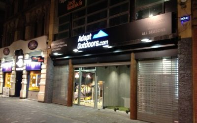Illuminated Signage for Adapt Outdoors