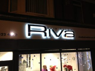 Signage for Riva Hair Salon